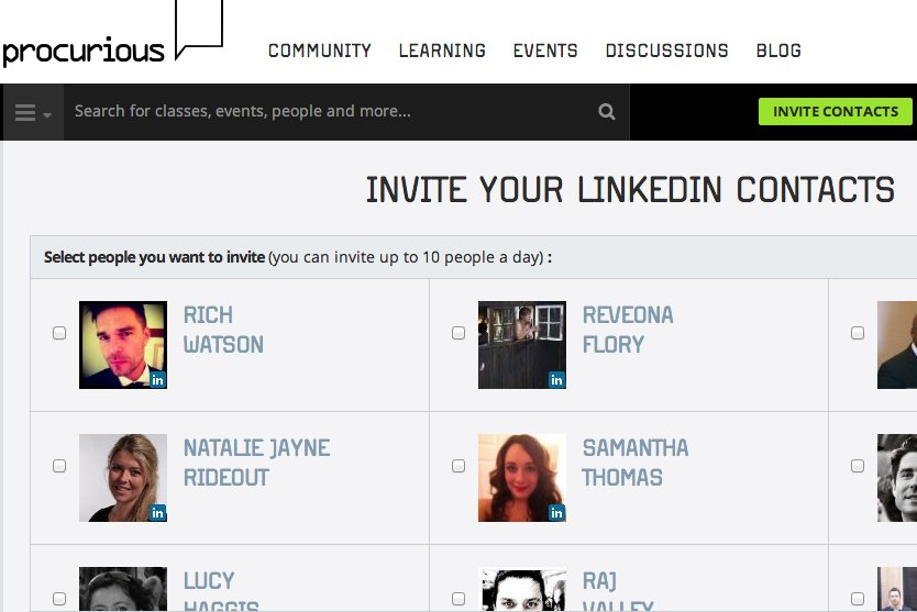 Invite your LinkedIn contacts