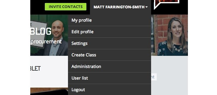Profile settings
