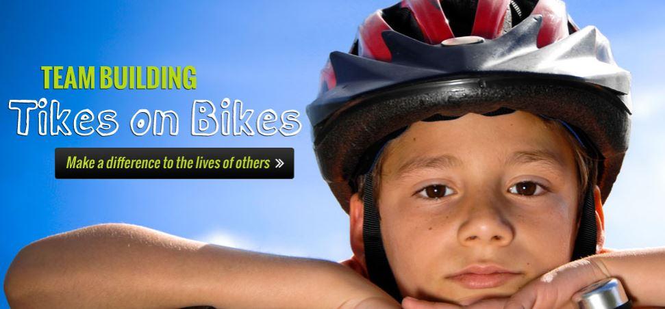 Tikes on Bikes team-building event