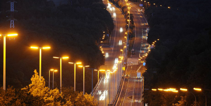 Belgium's motorway at night