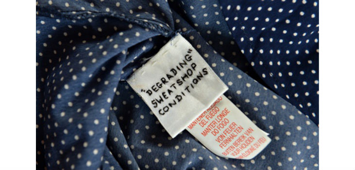 This cry for help was found sewed into a Primark garment earlier this week.