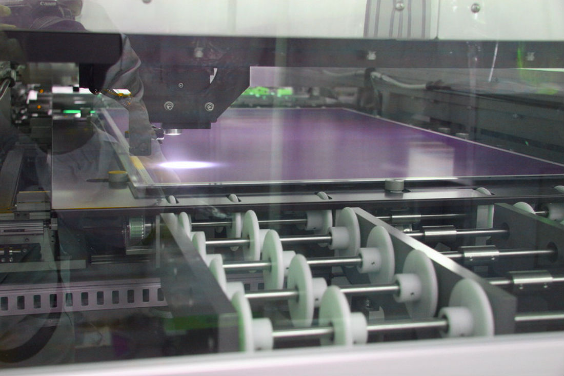 Inside a plasma screen factory