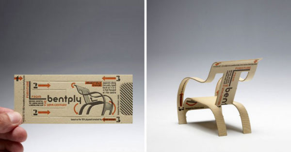 Folding chair business card
