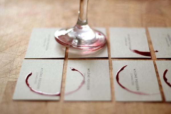 Sommelier business card