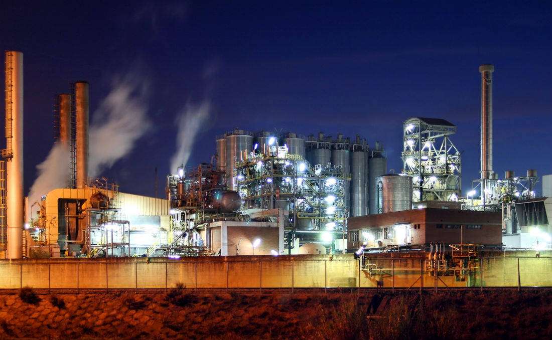 Industrial factory night