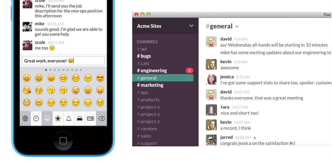 Best productivity tools: Slack messaging app