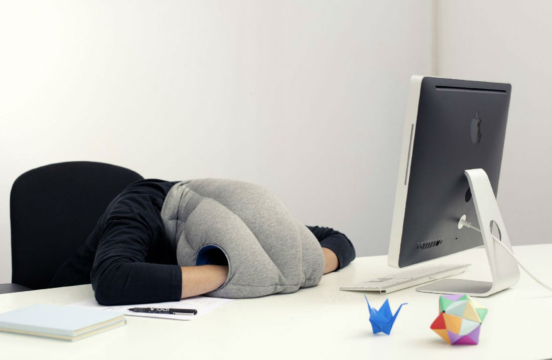 Ostrich Pillow - best gadgets to improve your sleep