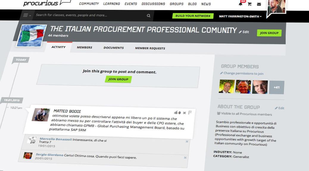 Groups on Procurious