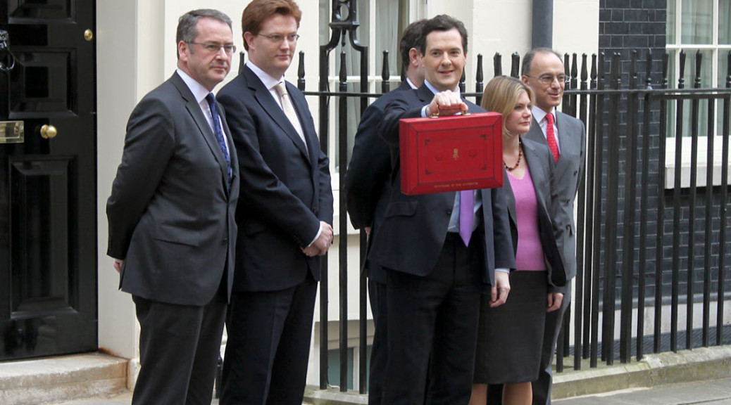 George Osbourne delivering the UK Budget