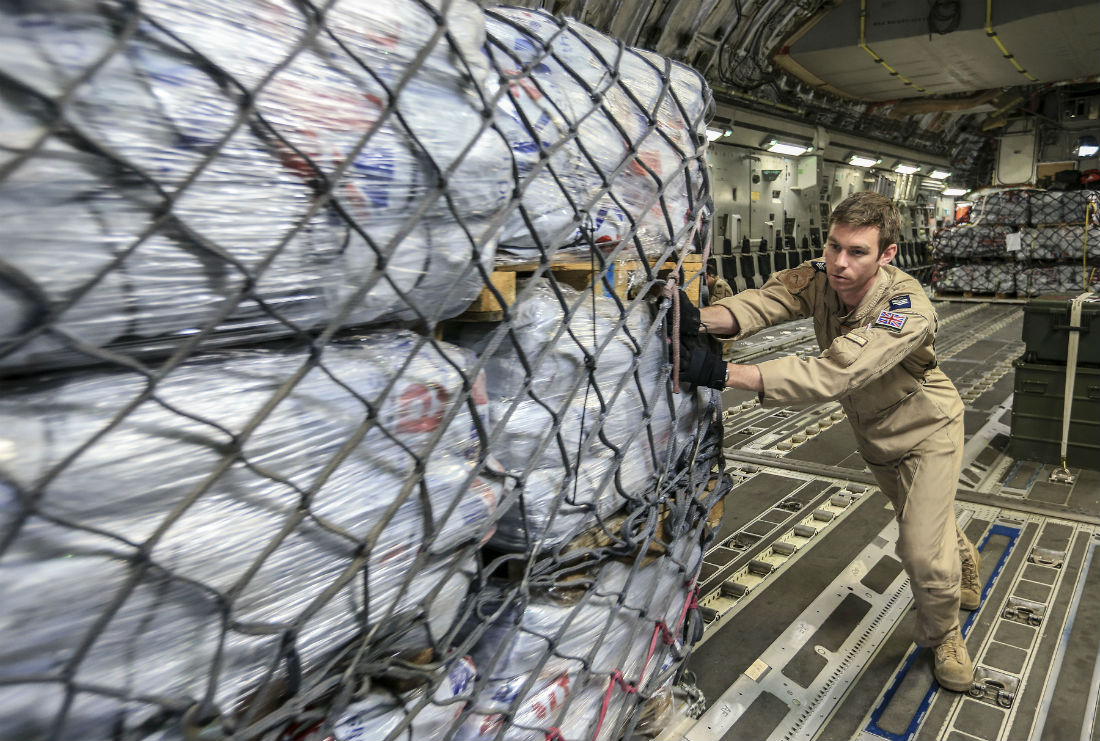 Aid being delivered in Nepal