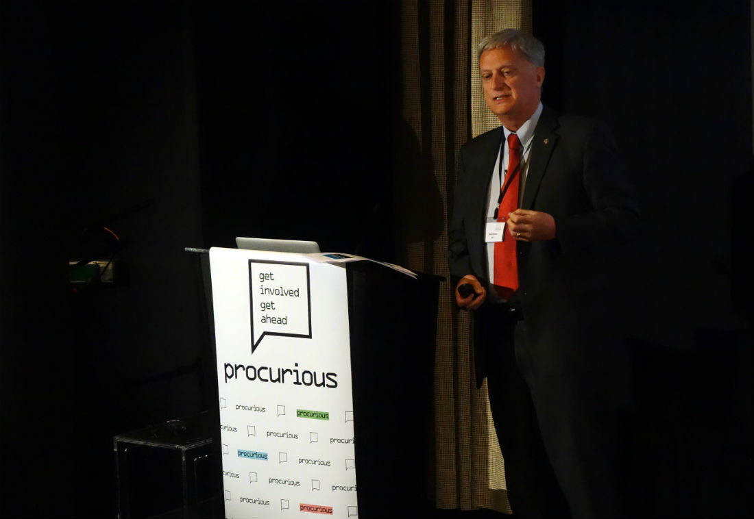 CIPS David Noble speaking at Procurious Big Ideas Summit 2015
