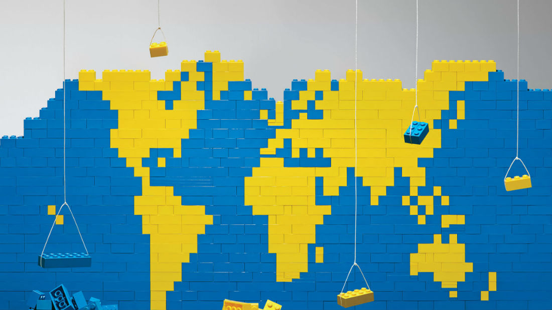 LEGO's popularity around the world