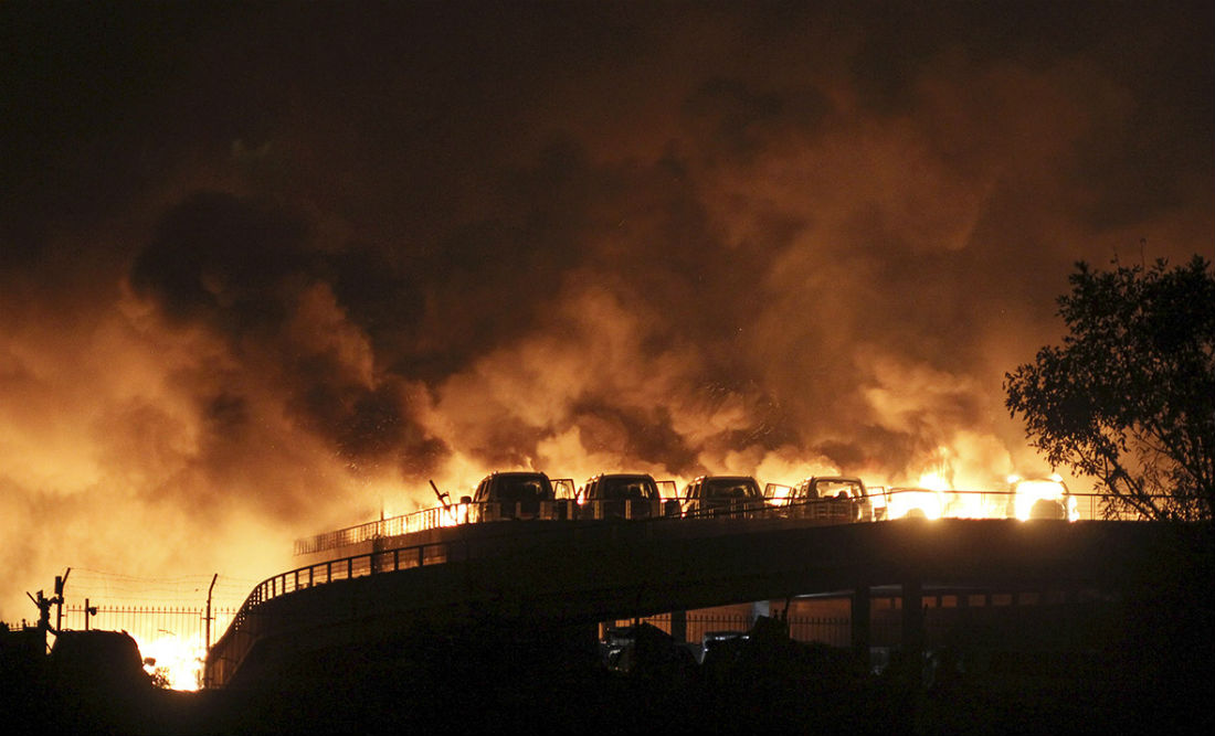 Explosion in Tianjin, China. Reuters