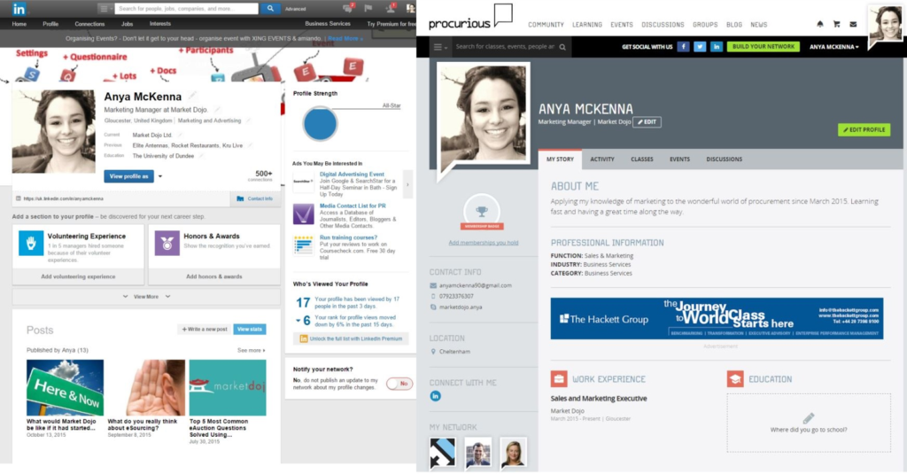 MD - LinkedIn and Procurious