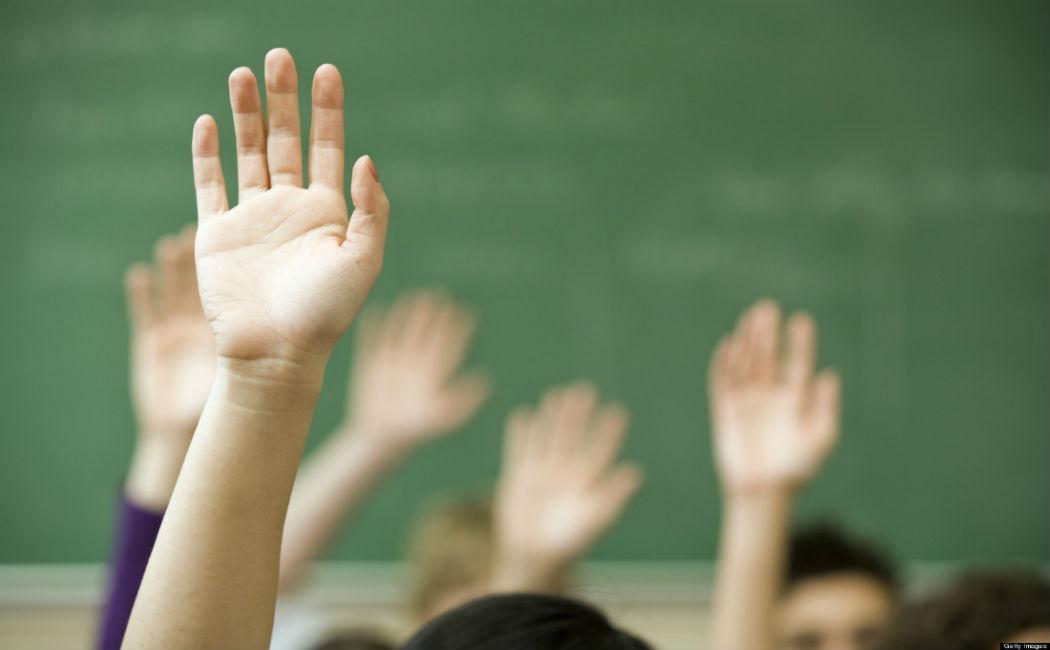 class-hand volunteer