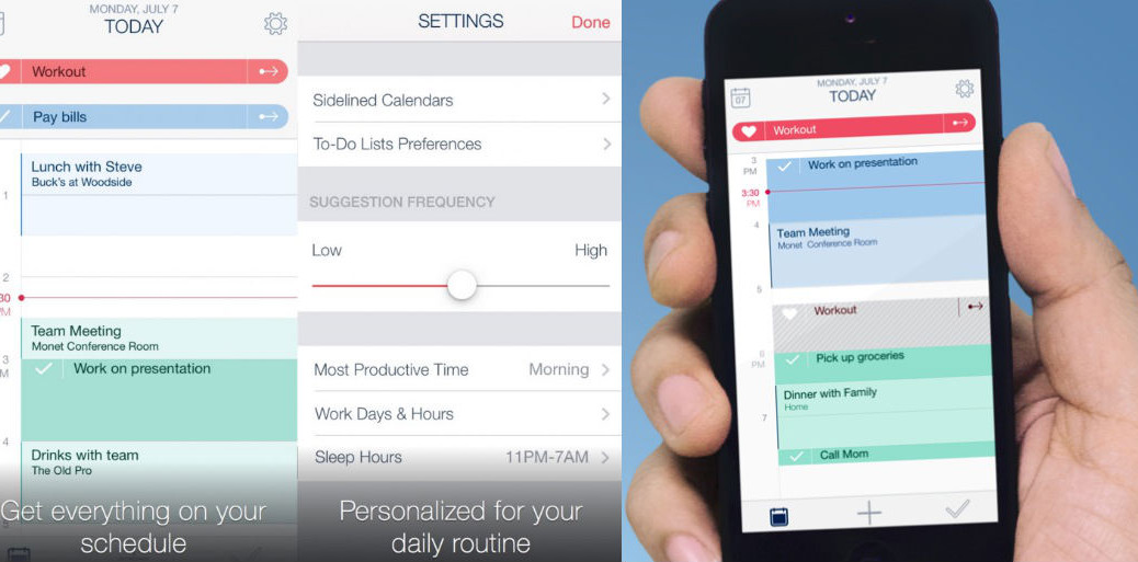 Best productivity tools: Timeful app