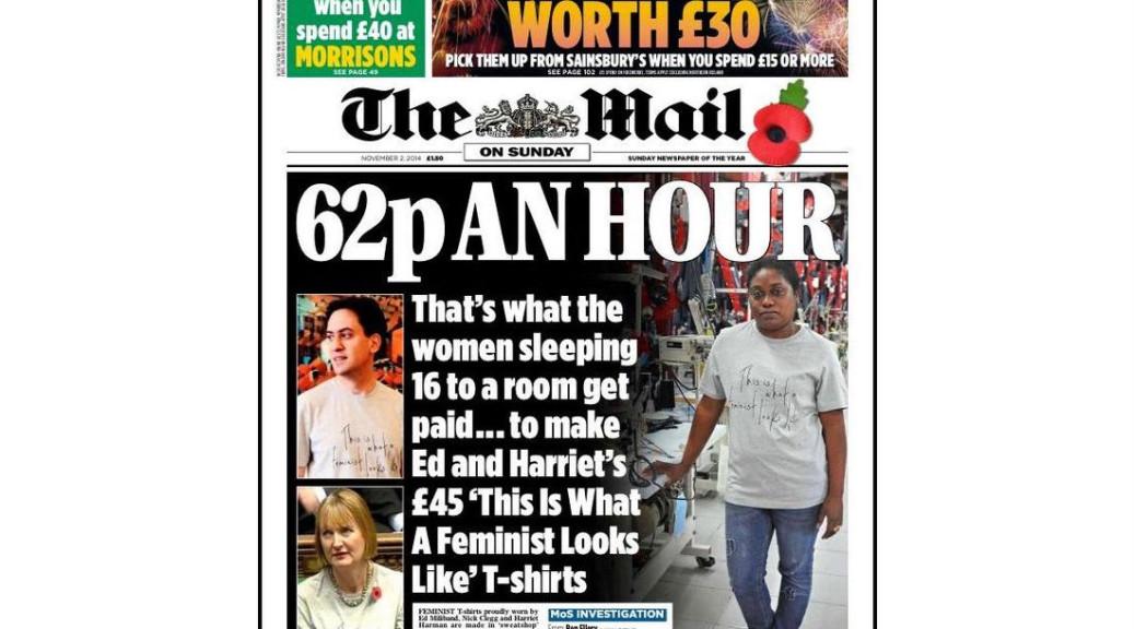 Feminist t-shirt labour row